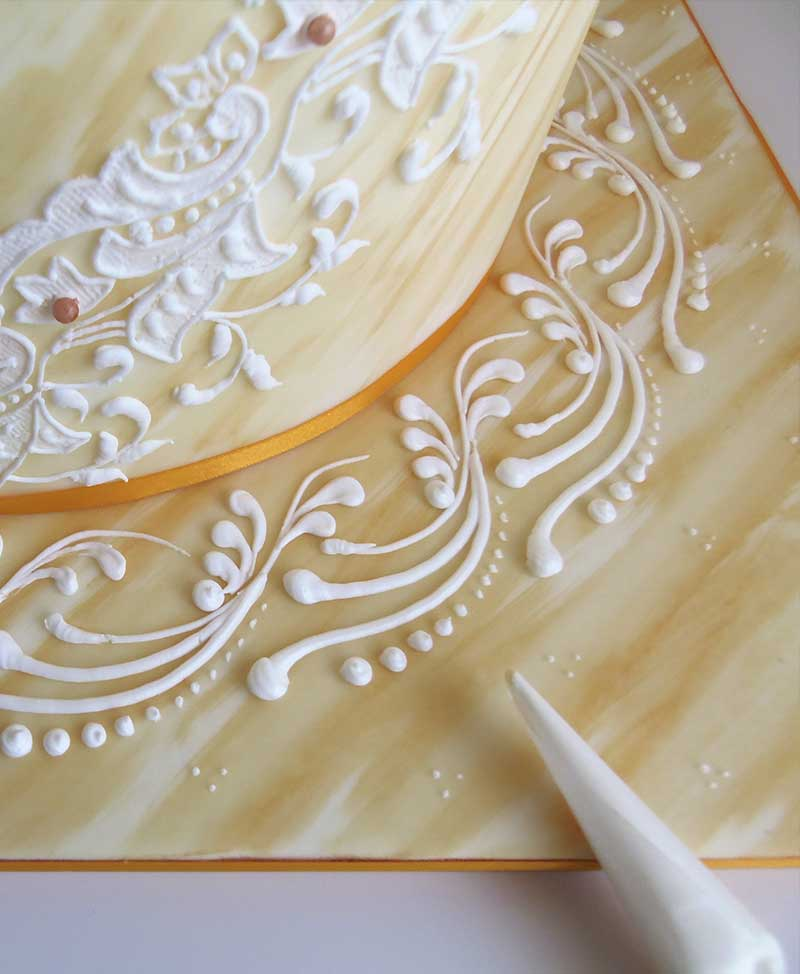 ghiaccia reale decorazioni delizie per l anima torta